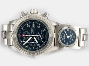Perfect Breitling Chrono Avenger/UTC Working Chronograph Blue Dial AAA Watches [W5M3]