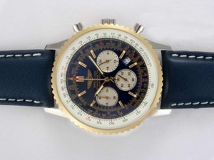 Perfect Breitling Navitimer Working Chronograph Two Tone asia, j