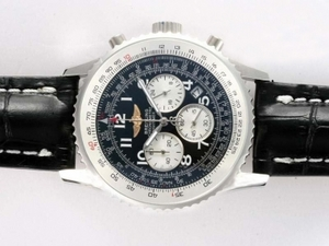 Perfect Breitling Navitimer Working Chronograph with Black Dial-Number AAA Watches [U6L3]