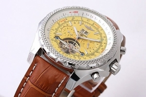 Perfect Breitling for Bentley Tourbillon Chronograph Automatic with Yellow Dial AAA Watches [F5H7]