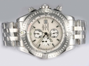 Popular Breitling Chronomat Evolution Working Chronograph with White Dial AAA Watches [J6X2]