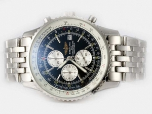 Popular Breitling Navitimer Working Chronograph with Black Dial AAA Watches [G5V7]
