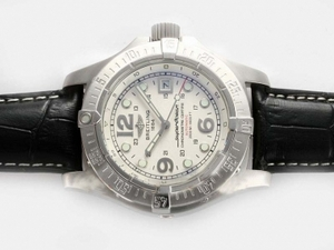 Popular Breitling Super Ocean Automatic with White Dial-Same Chassis As ETA 7750 Movement AAA Watches [F4X2]