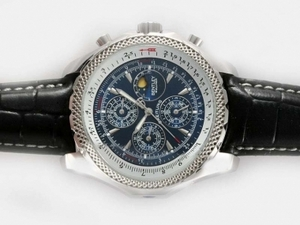 Quintessential Breitling Bentley Mulliner Chronograph Automatic met Blue Dial AAA Horloges [V7M5]