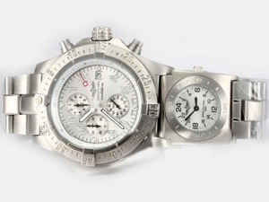 Quintessential Breitling Chrono Avenger/UTC Working Chronograph with White Dial AAA Watches [X2H4]