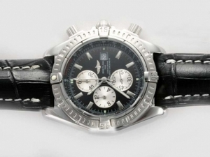 Quintessential Breitling Chronomat Evolution Working Chronograph with Black Dial AAA Watches [A1L4]