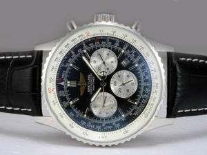 Quintessential Breitling Navitimer Chronograph Automatic with Black Dial AAA Watches [F6S4]