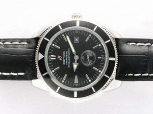 Quintessential Breitling Super Ocean Automatic with Black Dial and Bezel AAA Watches [E9L4]