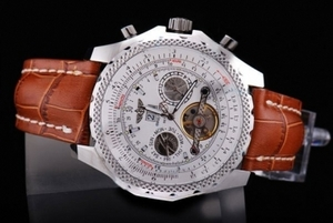 Quintessential Breitling for Bentley Motors Tourbillon Argento Caso AAA orologi automatici [R1G6]