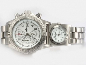 Vintage Breitling Chrono Avenger/UTC Working Chronograph White AAA Watches [Q4H3]
