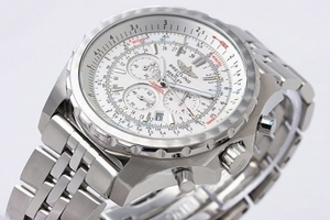 Vintage Breitling For Bentley Working Chronograph Quartz with White Dial AAA Watches [Q1B5]
