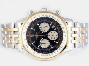 Vintage Breitling Navitimer Working Chronograph Two Tone with Blue Dial AAA Watches [C9Q9]