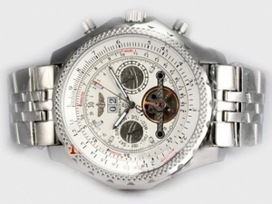 Vintage Breitling for Bentley Motors Automatic Tourbillon with White Dial AAA Watches [N3W9]