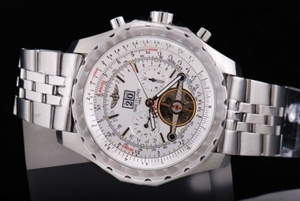 Breitling Bentley dell'annata per Tourbillon Movimento acciaio inossidabile AAA orologi automatici [W1O6]