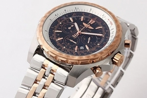 Modern Breitling For Bentley Chronograph Quartz Movement Rose Gold Bezel AAA Watches [O4F7]