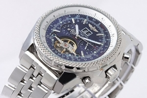 Perfect Breitling for Bentley Motors Automatic Tourbillon with Blue Dial AAA Watches [Q5L2]