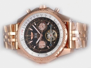 Popular Breitling for Bentley Tourbillon Automatic Chronograph Full Rose AAA Relógios [M4I7]