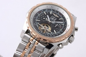 Quintessential Breitling For Bentley Tourbillon Chronograph Automatic Rose Gold AAA Watches [W3E8]