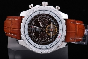 Quintessential Breitling for Bentley Motors Automatic Tourbillon SS Case AAA Watches [G2U1]
