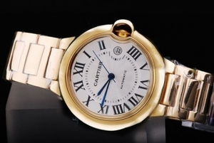 Cool Cartier Ballon Bleu de Cartier Automatic with Golden Case AAA Watches [Q8W3]