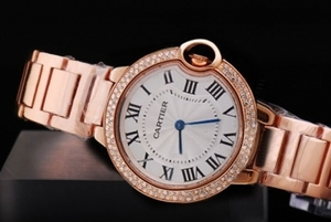 Cool Cartier Ballon Bleu de Cartier Full Rose Gold with Diamond Bezel AAA Watches [U8N3]