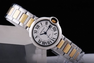 Cool Cartier Ballon Bleu de Cartier Quartz Two Tone Strap AAA Watches [I1O2]