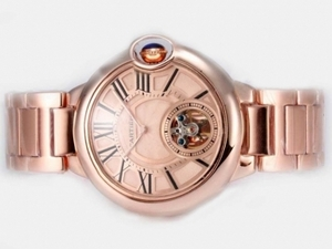 Cool Cartier Ballon Bleu de Cartier Tourbillon Manual Winding AAA Watches [K9W1]
