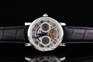 Cool Cartier Ballon Bleu de Tourbillon Automatic Movement Silver Case AAA Watches [M9N9]