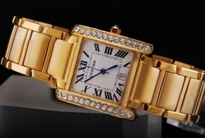 Cool Cartier Montre Santos Demoiselle Quartz Movement Diamond Bezel AAA Watches [S6E7]