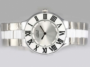 Cool Cartier Pasha Must De with Silver Dial AAA Watches [F2E1]