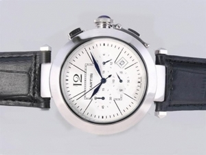 Cool Cartier Pasha Working Chronograph with White Dial AAA Watches [U9B8]