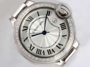Fancy Cartier Classic Diamond Bezel with White Dial AAA Watches [V9K5]