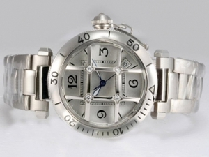 Fancy Cartier Pasha Automatic with Silver Dial AAA Watches [I4U8]