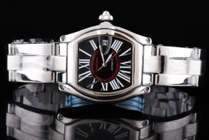 Fancy Cartier Roadster Automatic with Black Dial and Roman numeral AAA Watches [C8M8]