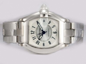 Fancy Cartier Roadster Automatic with White Dial AAA Watches [U1G9]