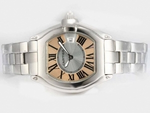 Fancy Cartier Roadster med Champagne Dial-Ladys Modell AAA klockor [I3T5]