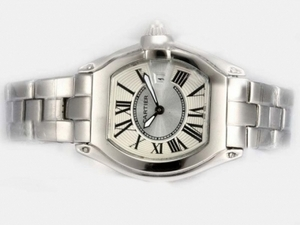 Fancy Cartier Roadster with Pink Dial-Ladys Model AAA Watches [L7L9]