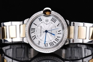 Gorgeous Cartier Ballon Bleu Automatic Diamond Bezel with White Dial AAA Watches [N3K9]