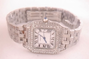 Gorgeous Cartier Montre Santos Demoiselle Diamond Bezel and Case AAA Watches [J3D8]