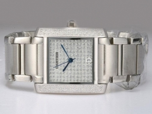 Gorgeous Cartier Tank Diamond Bezel and Dial Lady Model AAA Watches [V3E8]