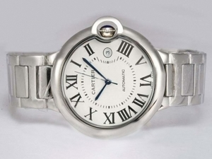 Great Cartier Ballon Bleu de Cartier Automatic with White Dial-42mm AAA Watches [W8P6]
