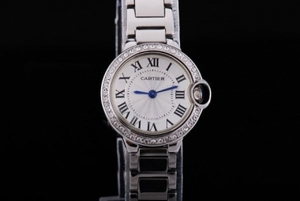 Great Cartier Ballon Bleu de Cartier Diamond Bezel with White Dial AAA Watches [V2E5]