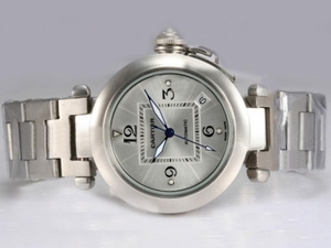 Cartier Pasha Moderno Automtic Con Silver Dial Relojes AAA [R7G6]
