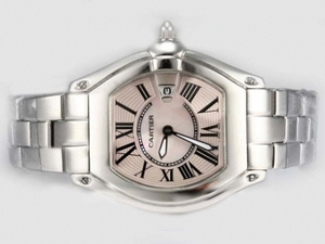 Modern Cartier Roadster with Pink Dial-Ladys Model AAA Watches [W9B7]
