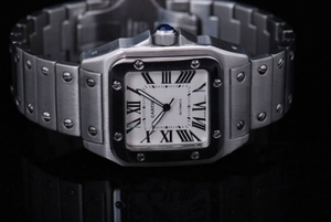 Modern Cartier Santos 100 Automatic with White Dial-Medium Size 34MM AAA Watches [I7I8]