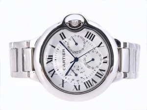 Perfect Cartier Ballon Bleu de Cartier Chronograph with White Dial AAA Watches [M2C6]