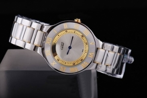 Perfect Cartier Pasha Must De Two Tone with Silver Dial AAA Watches [C3W3]