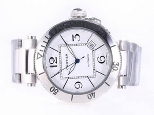 Perfect Cartier Pasha Seatimer Automatic with White Dial AAA Watches [Q8L6]