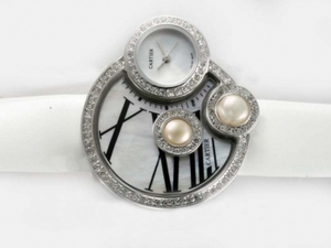 Popular Cartier Classic Diamond Bezel with White Dial AAA Watches [M7D3]