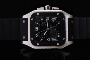 Popular Cartier Santos 100 Automatic Movement with Black Dial AAA Watches [D7G6]